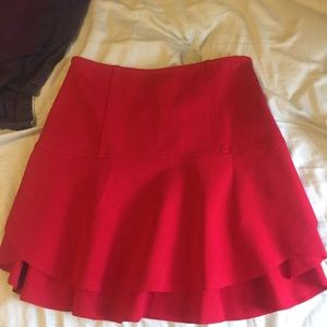 NWT Silence + Noise Urban Outfitters Red Skirt