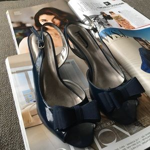JJ Footwear Shoes - Blue Peep Toe Heels