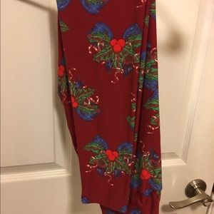 Lularoe Christmas leggings OS