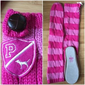 PINK Victoria's Secret Shoes - VICTORIA'S SECRET PINK KNIT SLIPPER SOCKS NWT L