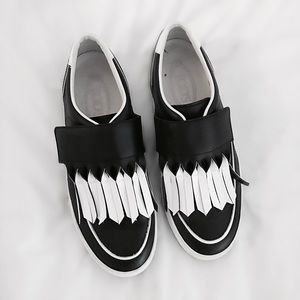 Tod's Shoes - FINAL FLASH- TOD's Fringe Velcro Sneakers