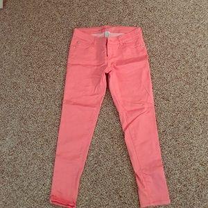 Celebrity Pink Pants - Celebrity Pink coral colored skinny jeans