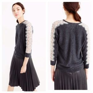 Jcrew Sweater With Edged Lace