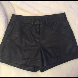 NWOT FRENCH CONNECTION LEATHER SHORTS