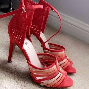 Zara Orange Strappy High Heel Sandals - 39