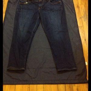 Dark denim boyfriend jeans