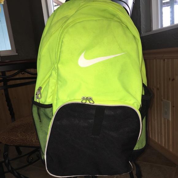 Lime green Nike backpack. M 58acc93299086af41500f930 c9367083e