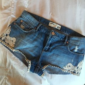 Garage Pants - Lace and Denim Shorts