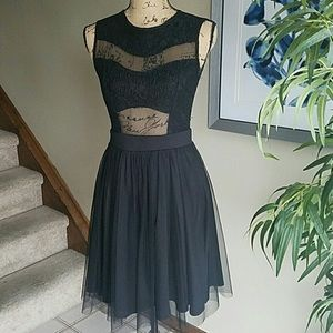 Mystic Dresses & Skirts - NWOT Mystic brand black lace&mesh open back dress