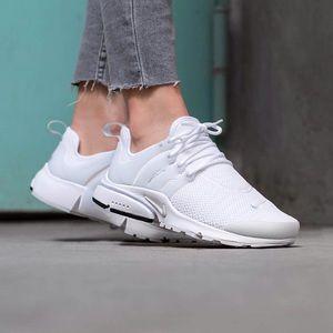 official photos 9c9a5 a2529 Women's Nike Air Presto White Sneakers NWT
