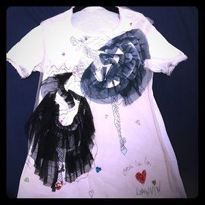 Lanvin Tops - Lanvin T shirt PARIS
