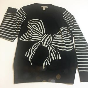 Banana Republic Striped Bow Sweater