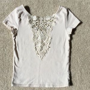 Forever 21 Lace Front Crop Top