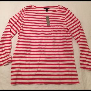 NWT J. Crew striped boatneck top