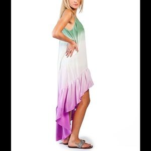 Gypsy05 Audry High-Low Ruffle Maxi Dress