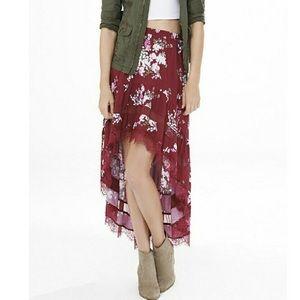 🆕Express High-Low Floral Print Skirt