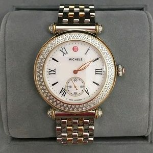 Michele  Accessories - NWT MICHELE CABER DIAMOND Caber TWO-TONE WATCH