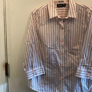 Jones New York NWOT blue striped button down shirt