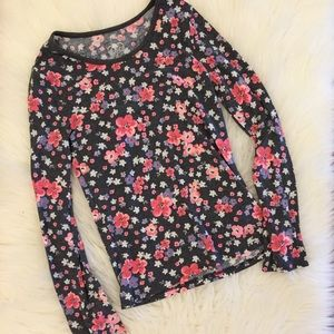 Justice Other - Justice Floral Long Sleeved Ribbed Tee 10