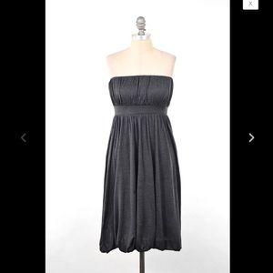 Banana Republic Gray Silk Strapless Dress sz 8