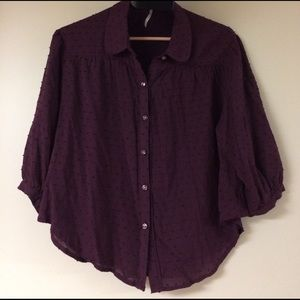 Free People Swiss Dot Blouse