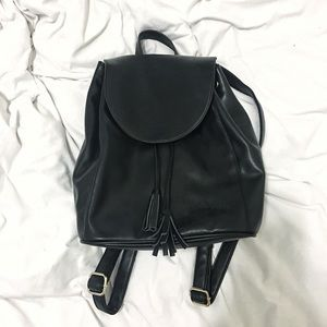 Old Navy Handbags - Old Navy Leather Backpack with Tassels