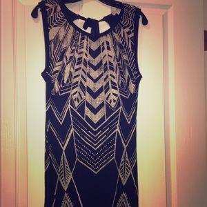 Billabong black tie back dress