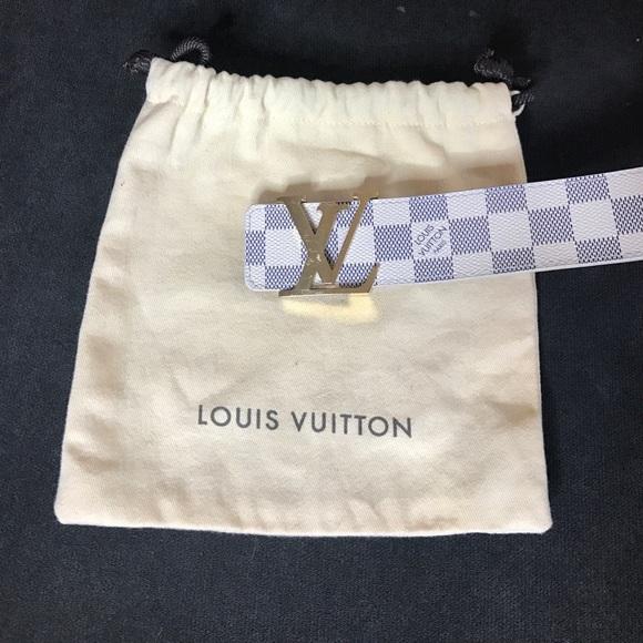 5faec3ea9dbf0 Louis Vuitton Other - Men s LOUIS VUITTON Damier Azur Belt Buckle 38 95
