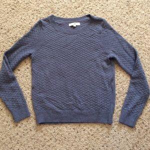 Ann Taylor Loft Metallic Gray Sparkle Sweater L