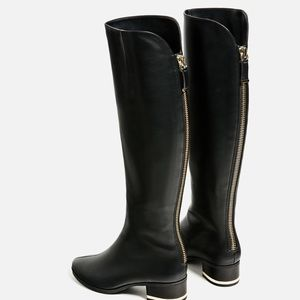 Zara Shoes - Zara Flat Boots with Detail size 5 New in box!