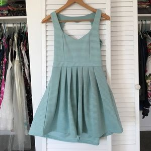 Poof Couture Dresses & Skirts - 🆕Heart Cut Out Aqua Dress