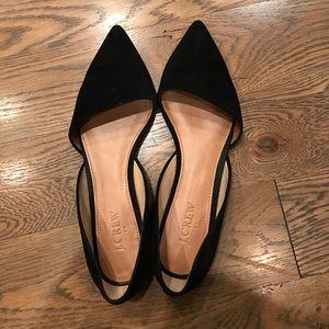 J.Crew Factory Shoes - Jcrew factory d'orsay flats. Black suede. Size 8.5