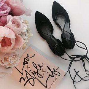 Stuart Weitzman Shoes - NWOT Stuart Weitzman Gilligan Suede Lace Up Flats