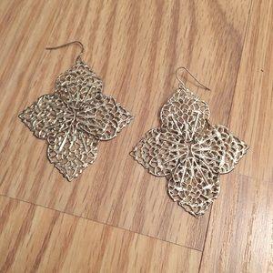 NWOT silver dangle earrings