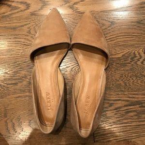J.Crew Factory Shoes - Jcrew factory d'orsay flats. Light camel color.