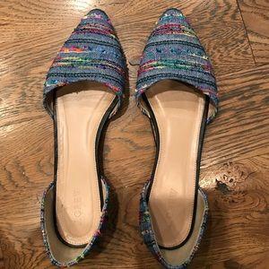 J. Crew Shoes - Jcrew multicolor d'orsay flats.