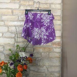 Amanda Uprichard Tops - Amanda Uprichard 100% silk tube top in lavender