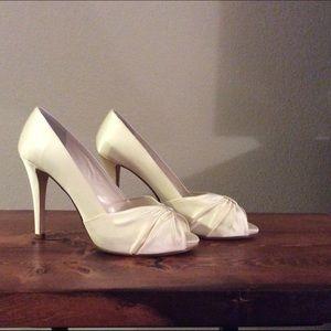 Butter Shoes Shoes - Satin Ivory Bridal by Butter Cruz pumps