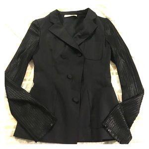 Balenciaga Jackets & Blazers - Balenciaga Paris Black Mixed Media Blazer