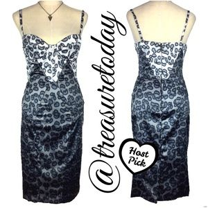 Just Cavalli Dresses & Skirts - HOST PICK❤ Just Cavalli Satin Leopard Corset Dress