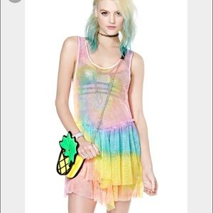 UNIF Dresses & Skirts - UNIF Festival Hippie tie dye bait dress