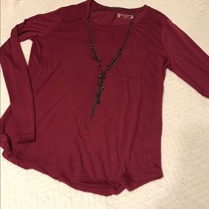Accessories - Black long layering necklace