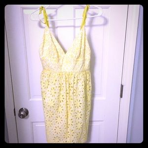 Milly Dresses & Skirts - Milly yellow eyelet sundress small 4 spring