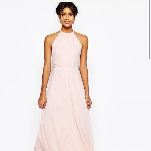 2bcbc73dc61 ASOS Dresses | Open Back Maxi Dress Pink Size Us2 | Poshmark