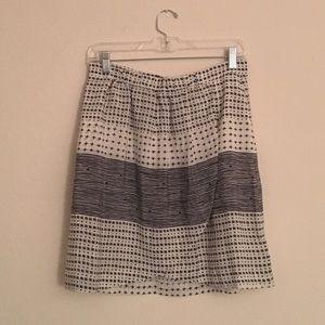 Madewell Dresses & Skirts - 100% Silk Black & White Madewell Skirt Medium