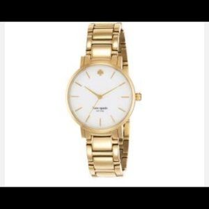 Kate spade gold watch with white face