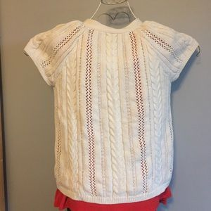 Sonoma Tops - Short-sleeved cable knit sweater