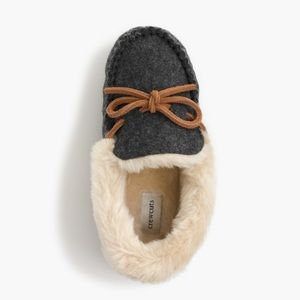 J. Crew Other - J. Crew Kids Shearling Lodge Moccasins Faux Fur