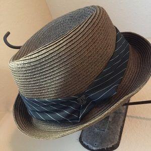 Brixton Accessories - ❗️SALE❗️Brixton Brown Fedora w/ navy ribbon & bow