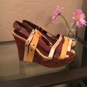 Miss Sixty Shoes - Miss sixty strappy cork wedge